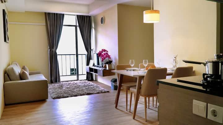 Apartment near Soekarno Hatta Airport,  2BR, 63m2