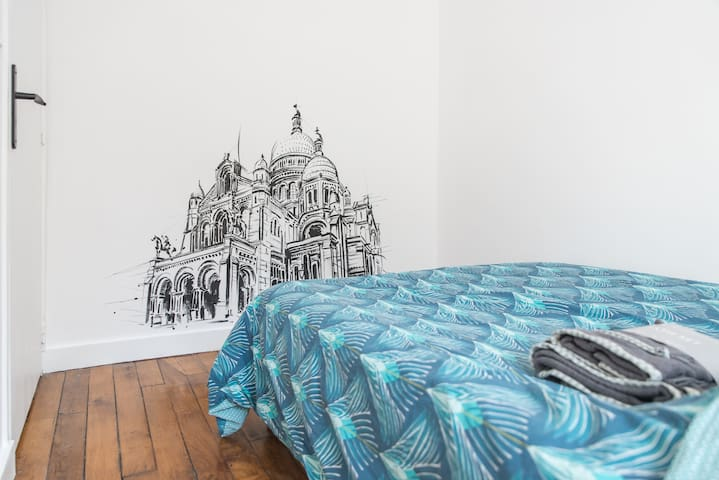 Nice little bedroom in 3 mn of Sacré Coeur