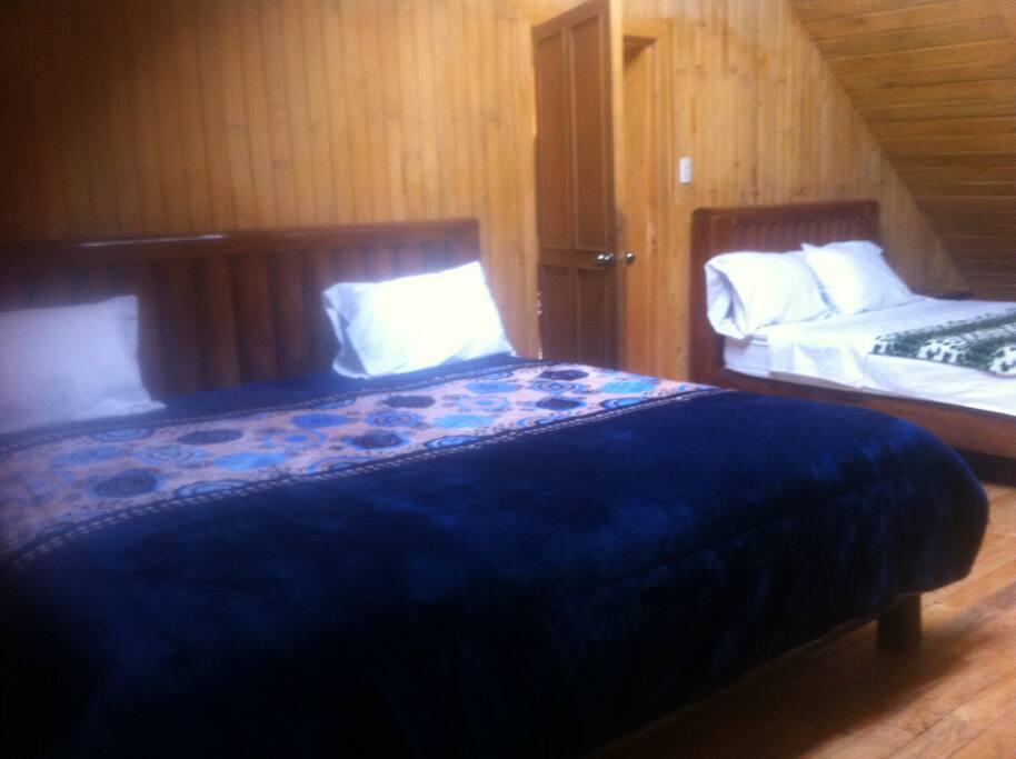 2 camas en una estancia.