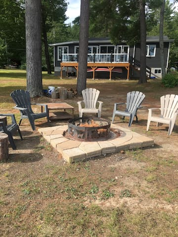 Fire pit for evening campfires.