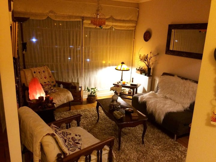 Acogedora habitación independiente ,Baño privado