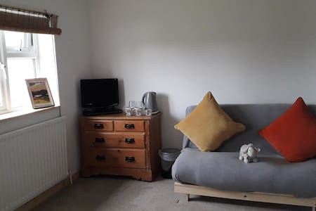 cosy room with double bed & sofa bed in kendal