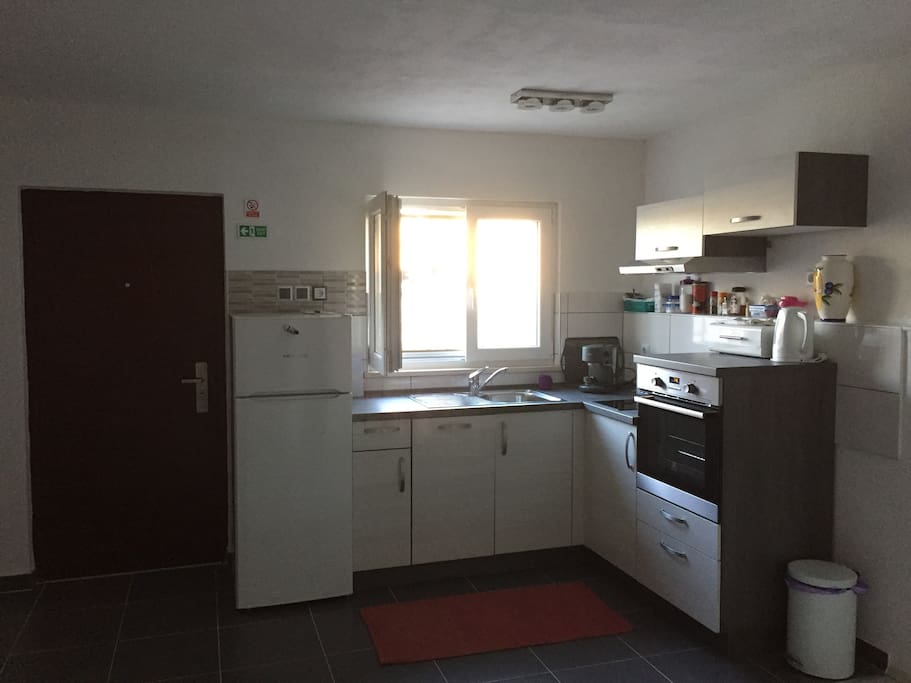 Kitchen and spacious living area