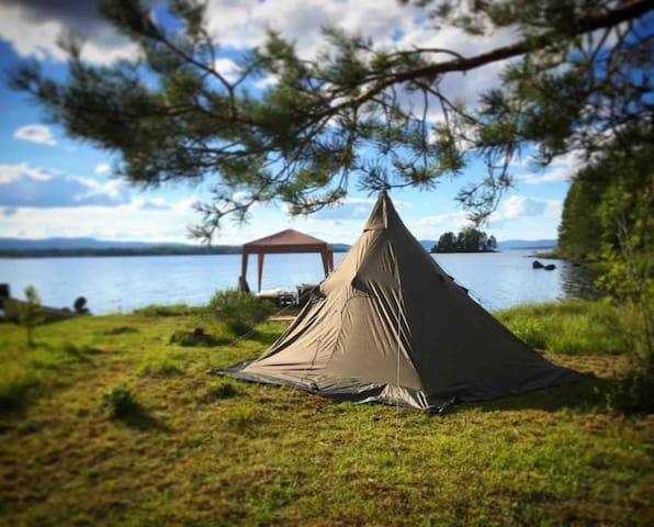 Tipi tent lavvo camping glamping