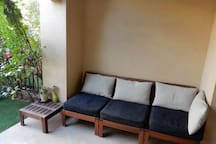private terrace outside & small garden