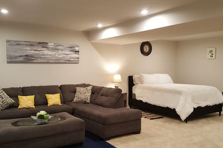 Whole basement & theater room. Entertaining while-