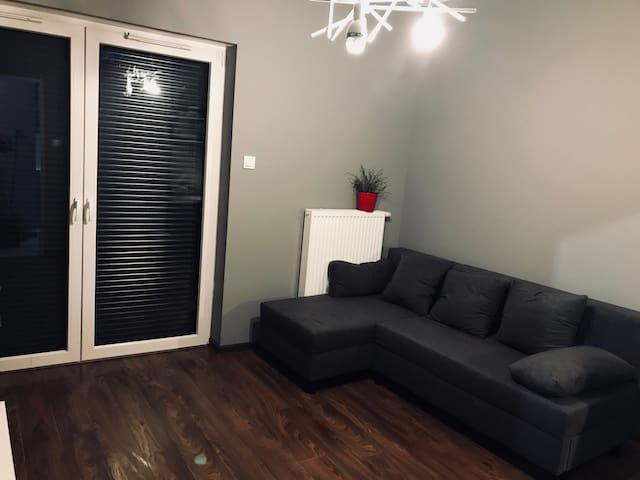 Nowy apartament max 4 os. BALKON/GARAŻ
