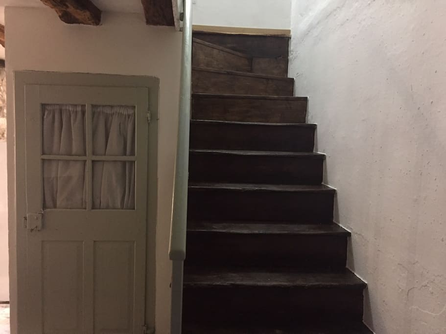 Original 1850 stairs, and doors, restored and painted