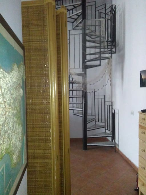 The stair to the second level