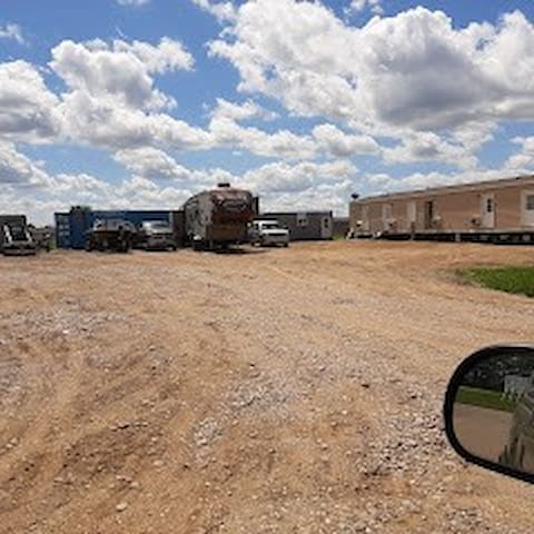 We have a big parking lot for your trailers