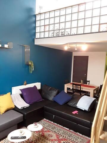 Appartement duplex meublé à prox, des transports.