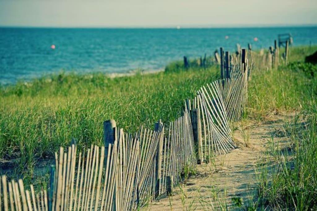 Popponesset beach,  is just a short Bike ride away!