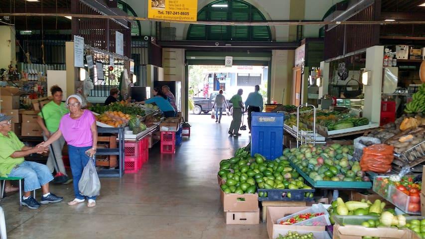 Inside Plaza del Mercado.  The real Puerto Rico.