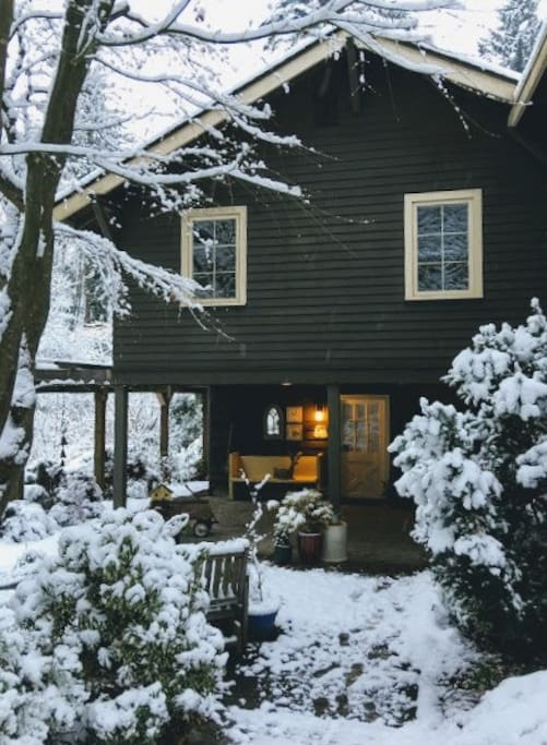 Winter Snow View of Entry