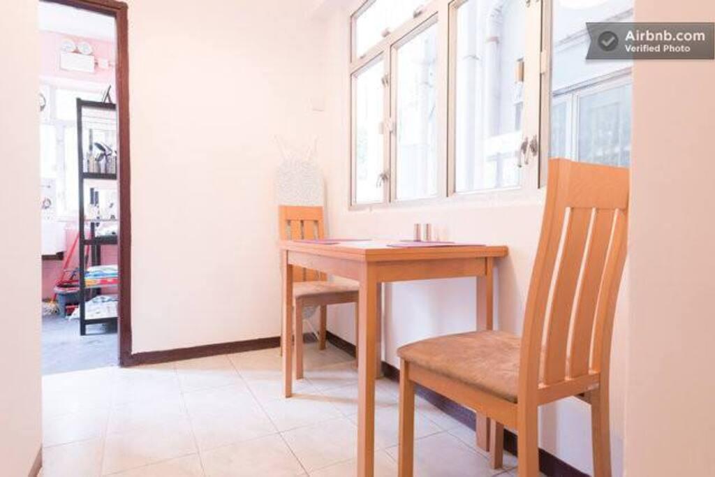 Cozy Space besides Kitchen