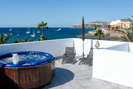 Luxury flat with terrace & hot tub - Arguineguin