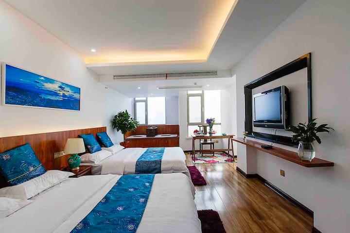 【鸿途】海水浴场、海上公园、高铁站,270度观海酒店式公寓boutique hotel