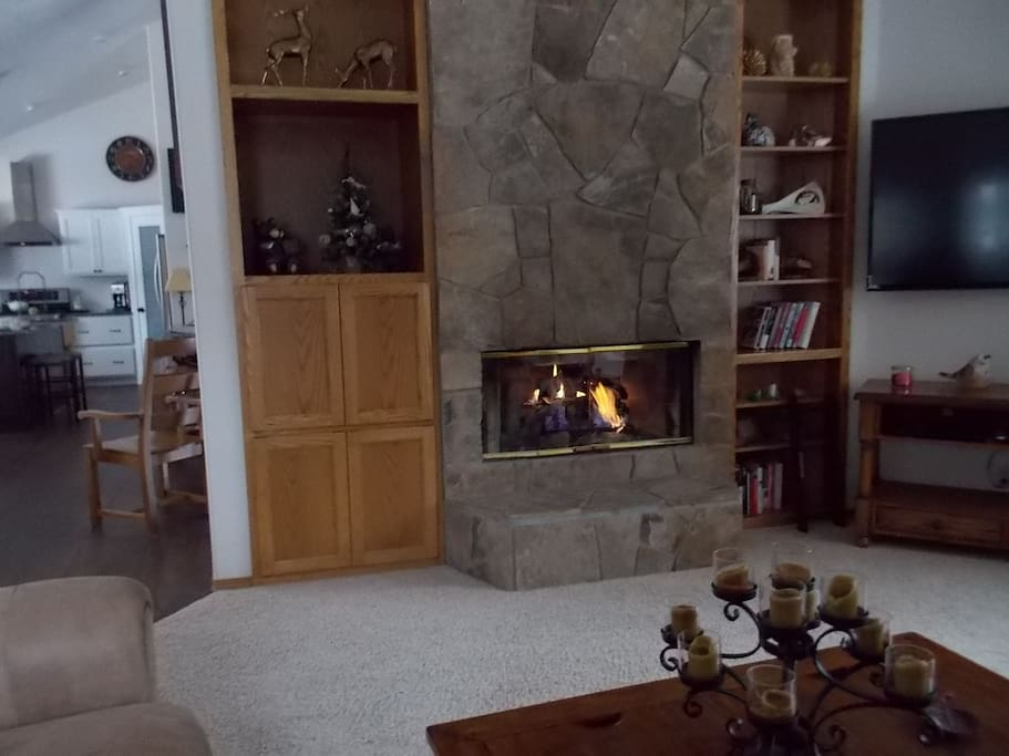Gas Fireplace in Liv.Rm