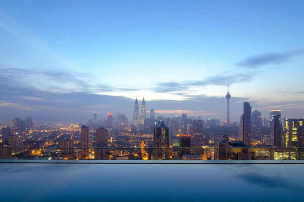 On top of our roof at dawn The view from our infinity pool. Oh God. Wouldn't you wish to be here? ;)