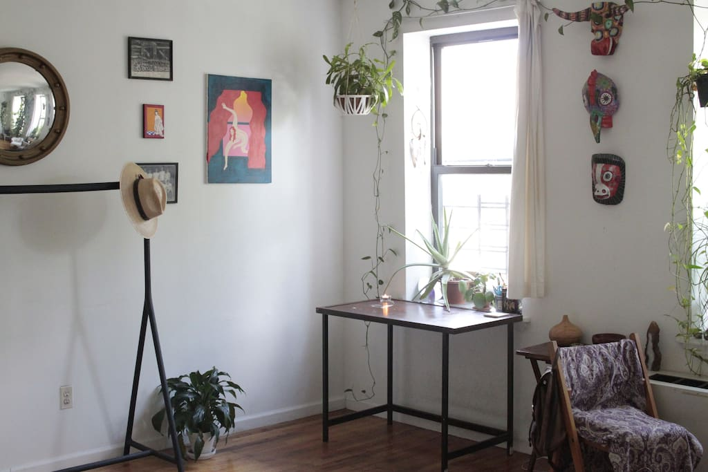 Beautiful iron desk to work from.