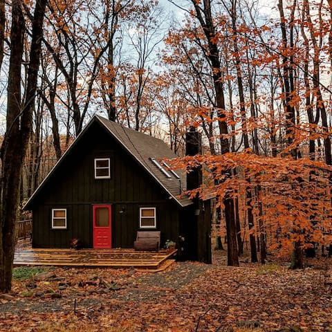 The Pocono Cabin // A Cozy Retreat + Fireplace!
