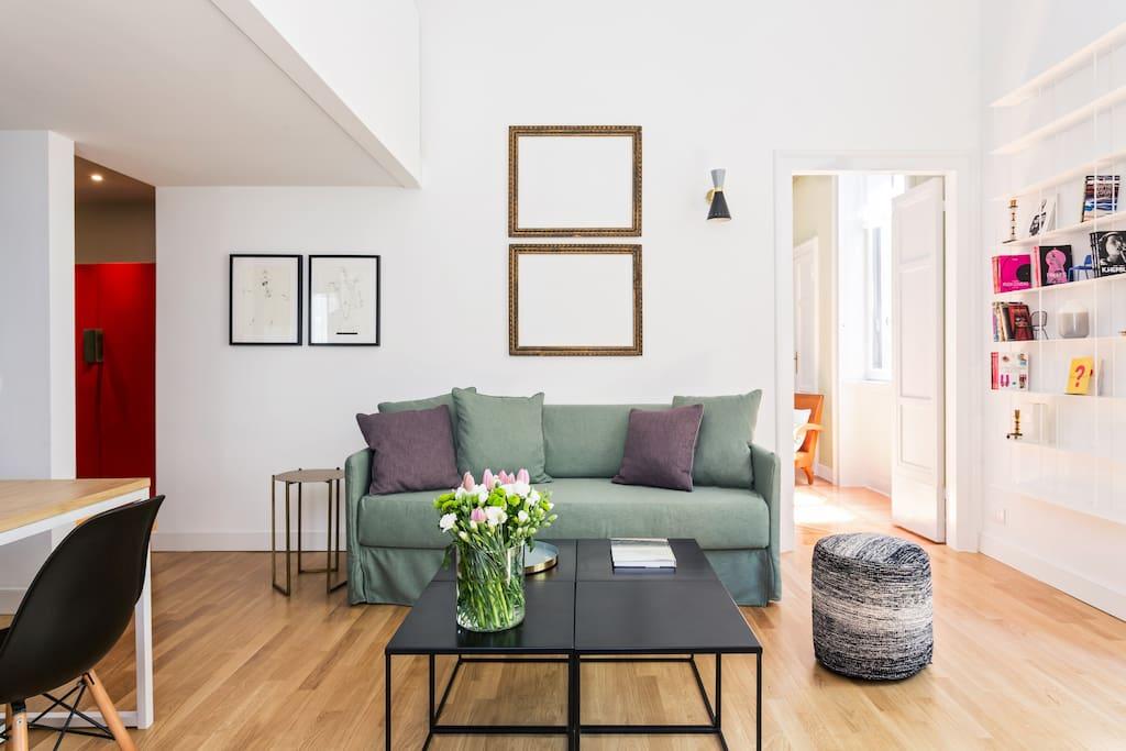 gorgeous place in porta venezia wohnungen zur miete in mailand lombardia italien. Black Bedroom Furniture Sets. Home Design Ideas