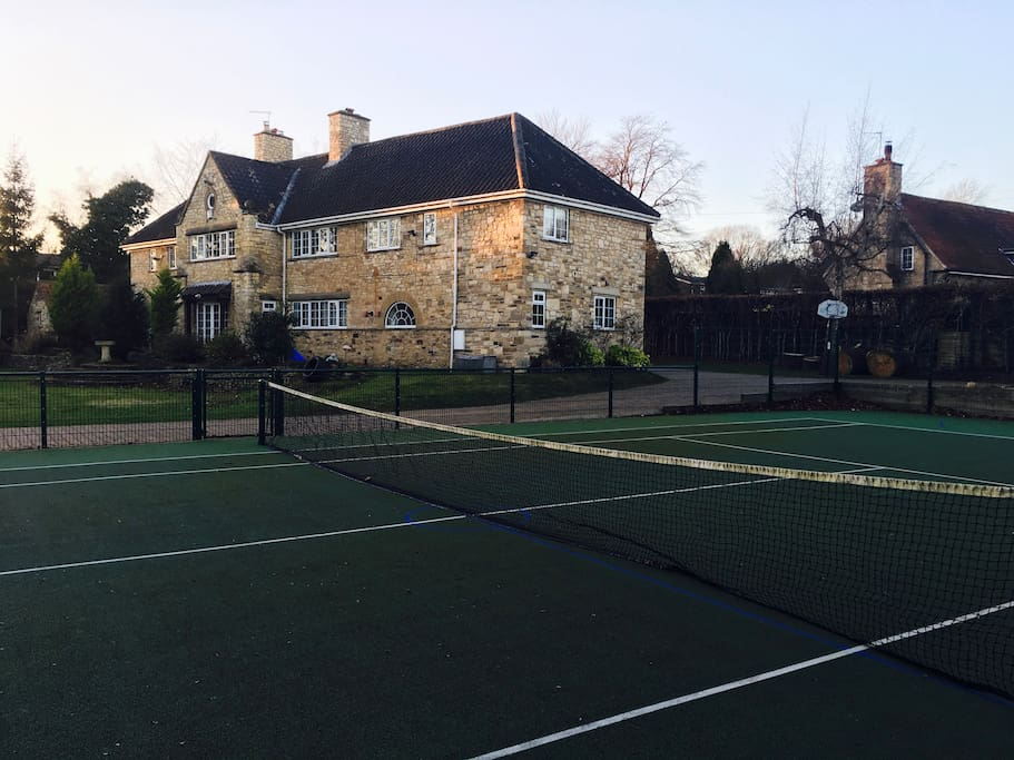 Enjoy our tennis court all year-round!