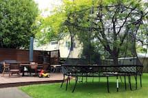 Safe Spring-free Trampoline