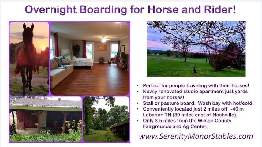 Horse Boarding and Trailer Parking - I40 Middle TN