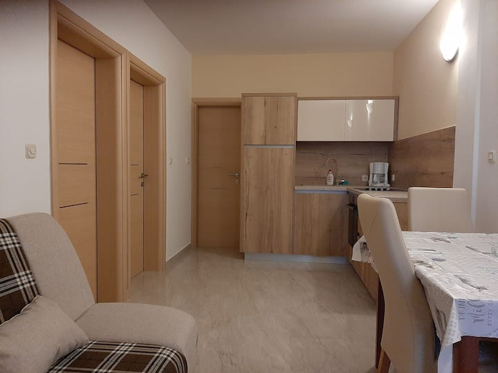 Two Bedroom Apartment, 200m from city center, seaside in Novalja - island Pag, Balcony