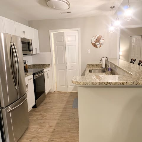 Stainless appliances boasting all the convinces of home!