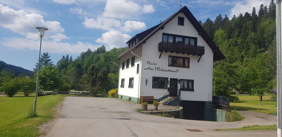 Cosy Single Apartment in a Spa Town in the Southern Black Forest with Mountain View, Balcony, Garden and Wi-Fi