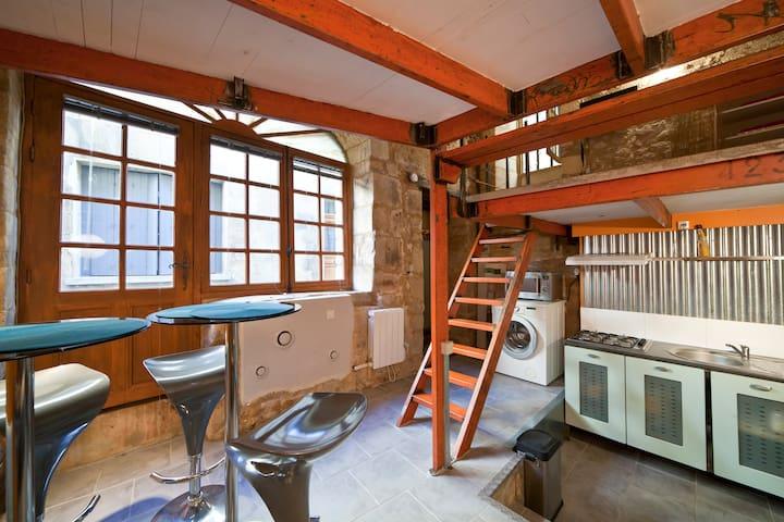 Studio de charme centre historique - Sarlat-la-Canéda - Byt