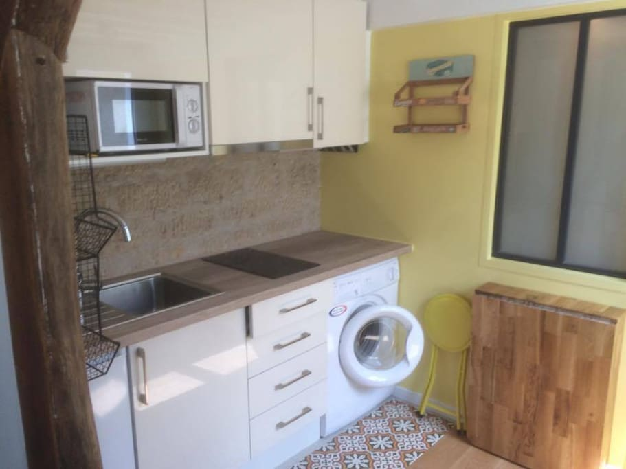 Possible to use my washing machine & all the kitchen