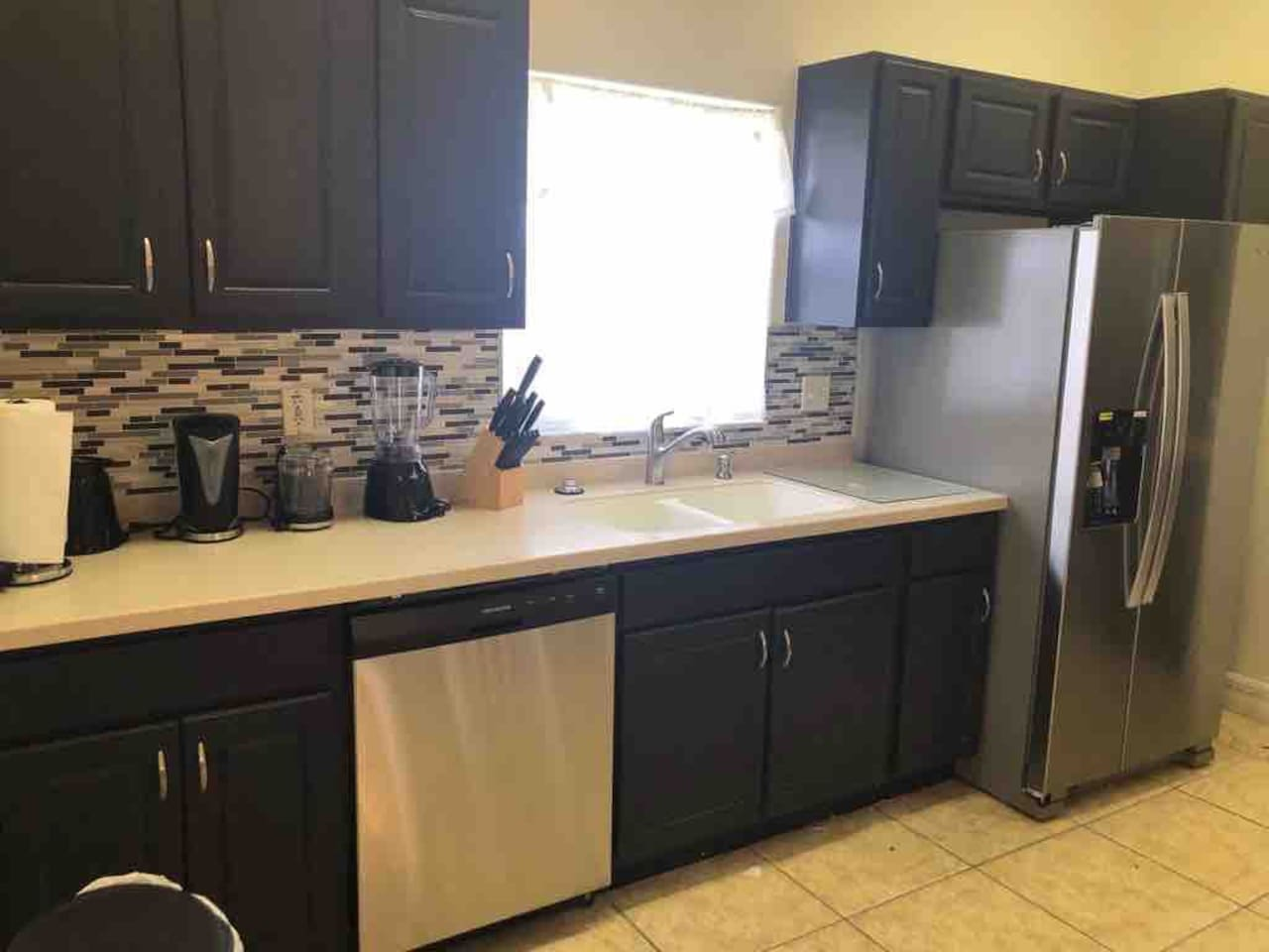 Guests asked, we listed! Brand new look to our kitchen with sparkling new appliances!!