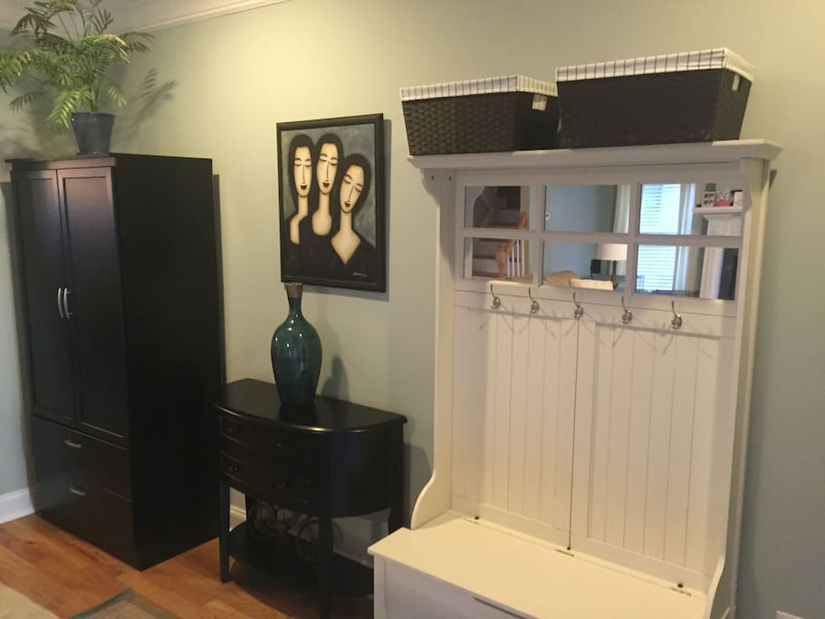 Entryway with storage room for coats and shoes