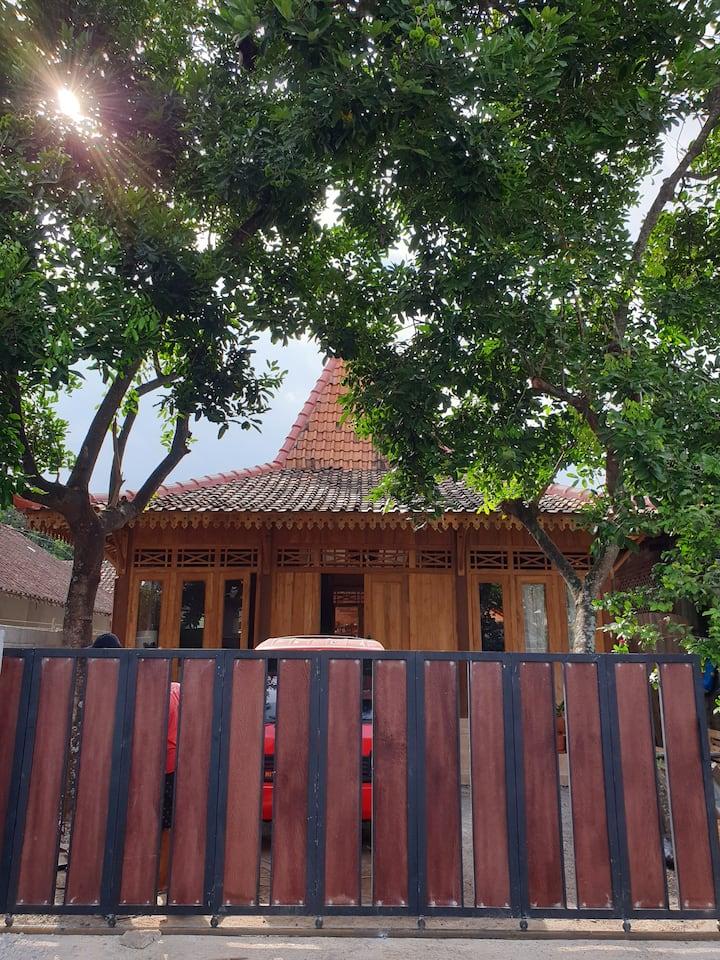 Private room inside Joglo house in Kotagede Jogja