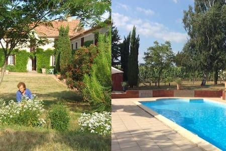 Maison 7 personnes - piscine 12x6m - Saint-Mont - Haus