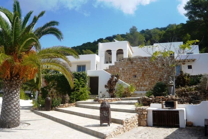 Beautiful villa on a cliff with swimming pool and panoramic view over the sea and Es Vedra