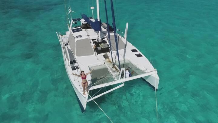 Catamaran in Paradise + Sailing and Snorkeling!