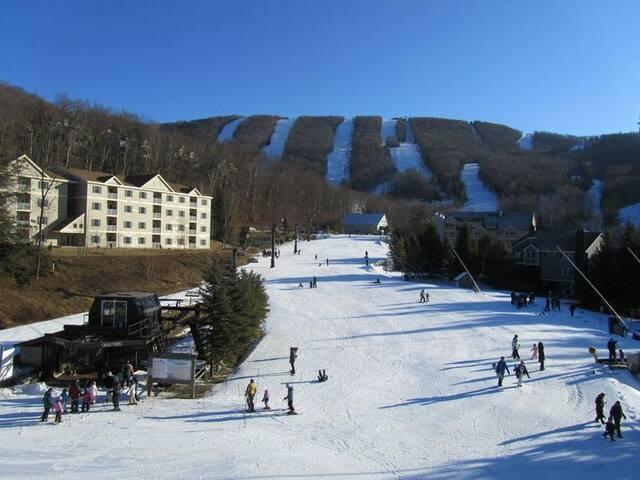 Ski-in/Ski-out 2 BR luxurious resort @Jiminy Peak