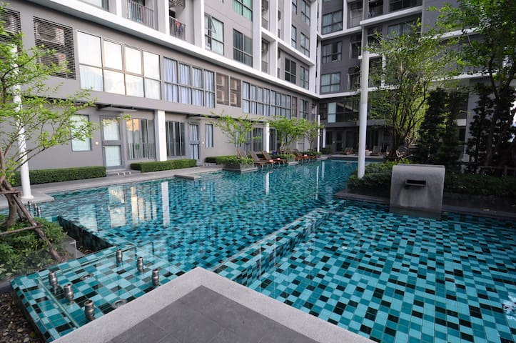 Cozy room City View with Pool&Gym, 2 mins to MRT - Bangkok - Apartment