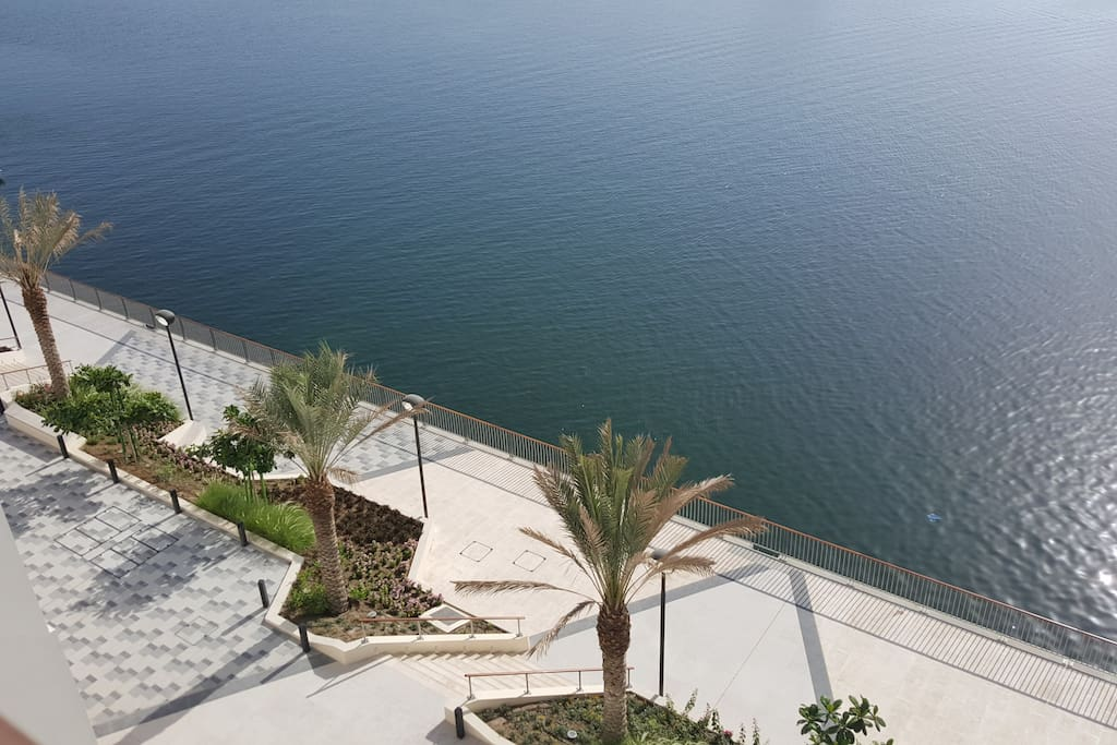 Beautiful sea view right under the balcony