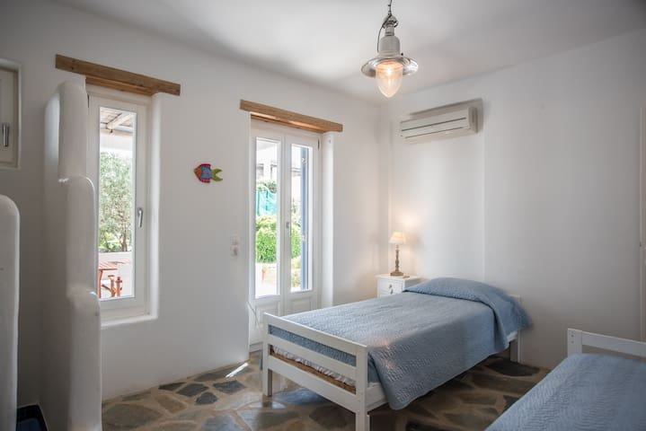 The second bedroom has twin beds (2 single beds) that can be joined if required.