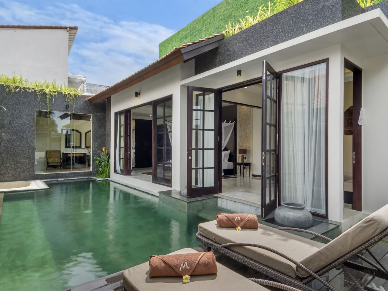 Enjoy a swim in your own private pool ... step out of bed and jump in!