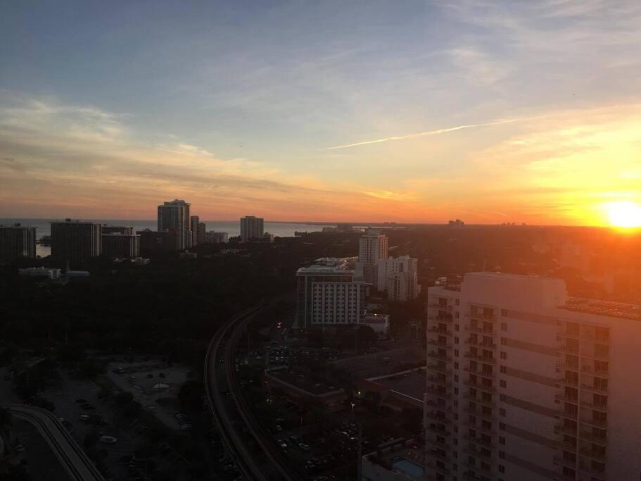Amazing sunset from balcony