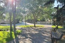 Beautiful walking paths in the neighborhood to take a stroll down