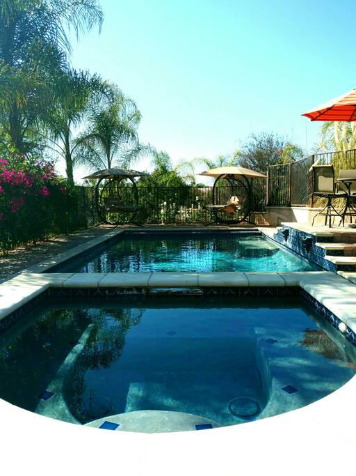 Relax by the tropical pool or