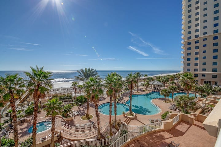 4th Floor Bright, Beachfront Condo w/ Quick Walk To Dining and More!