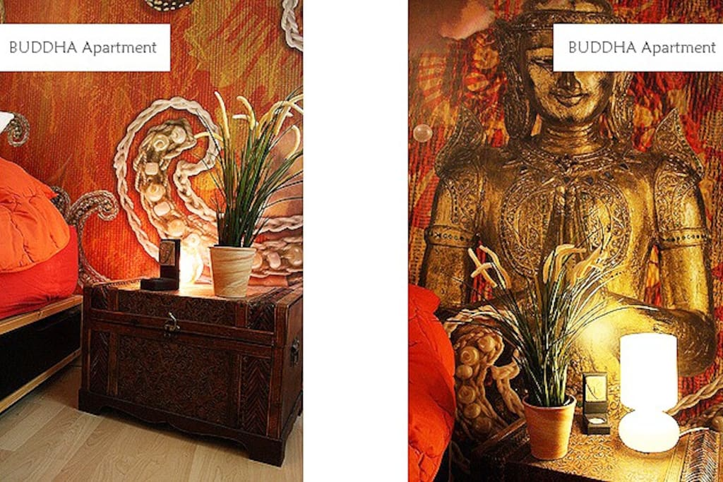 you don´t have to be buddhist to enjoy staying in this apartment